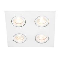 Embutido de Teto Lisse II Quadrada Branco Bivolt N... - Jabu Elétrica, Hidráulica e Iluminação