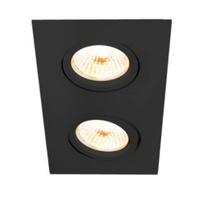 Embutido de Teto Quadrado Plano Para Lâmpada AR111... - Jabu Elétrica, Hidráulica e Iluminação