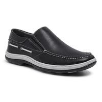 Sapato Mocassim masculino Sapatoterapia Preto/Bran... - SAPATOTERAPIA