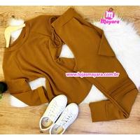 Conjunto Mayara - Calça e Blusa Caramelo