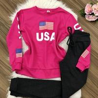 Blusa Moletom Usa - Rosa