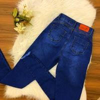 Calça Jeans Melinda - Detalhe Ziper e Cordão