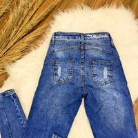 Calça Jeans Melinda - Detalhe Em Cordão