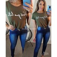 T-shirt Você Que Lute Verde Militar