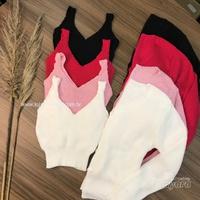 Twin Set Tricô Cropped e Casaco Liso Pink
