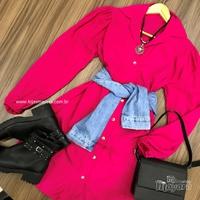 Chemise Manga Bufante Pink