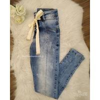 Calça Jeans Melinda Laço Tom Médio