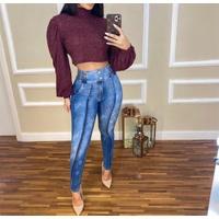 Calça Jeans Melinda Com Elástico na Cintura