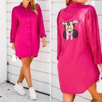 Chemise Minnie Mouse Punho Franzido Pink