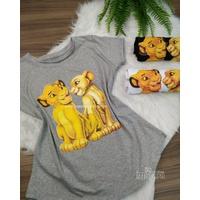T-shirt Rei Leão Cinza