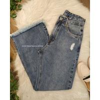 Calça Jeans Wide Leg Tom Médio