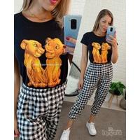 T-shirt Rei Leão Preta