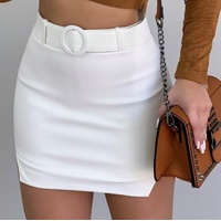 Shorts Saia Bengaline Branco