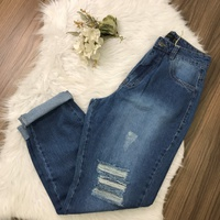 Calça Jeans Mom Tom Médio