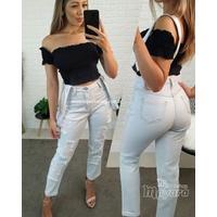 Calça Jeans Melinda Com Suspensório