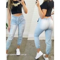 Calça Jeans Cargo Desfiada Clarinha