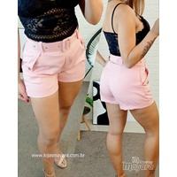 Shorts Social Com Cinto Rosa
