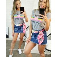 T-shirt Fashion New York Cinza