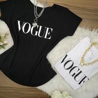 T-shirt Vogue Preta
