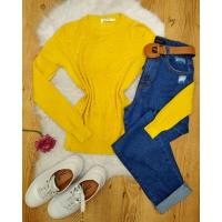 Blusa Tricô Perolas Amarelo