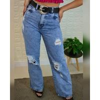 Calça Jeans Wide leg Clara (pantalona)