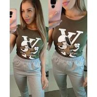 T-shirt Louis Viton Snoopy Verde