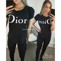 T-shirt Dior Preta