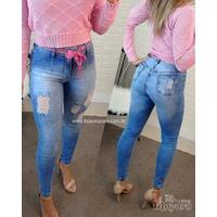 Calça Jeans Melinda Cordão Rosa