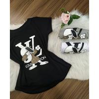T-shirt Louis Viton Snoopy Preta