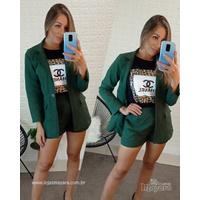Conjunto Blazer e shorts Verde