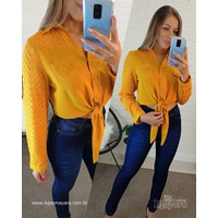 Camisa Com Amarra Amarela