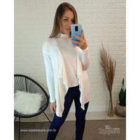 Conjunto Kimono e Blusa Off White