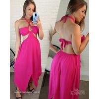 Vestido Pontas Pink