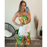 Vestido Longo Floral Branco