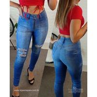 Calça Jeans Melinda C/ Zíper Na Frente - Clara