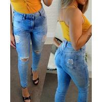 Calça Jeans Melinda - Rasgos Na Perna