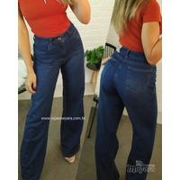 Calça Jeans Wide Leg Escura (pantalona)
