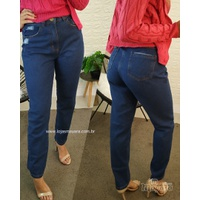 Calça Jeans Mom Lisa Escura