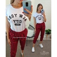 T-shirt New York City Branca