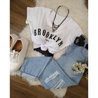 T-shirt Brooklyn Branca