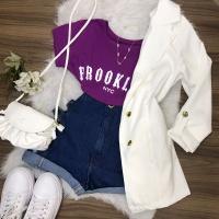 T-shirt Brooklyn Roxa