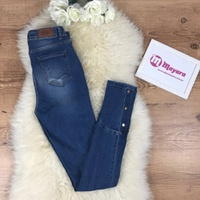 Calça Jeans Melinda Com Botões Na Barra