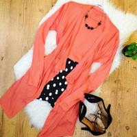 Conjunto Kimono e Blusa - Salmão