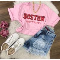 Cropped Boston Rosa