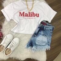 Cropped Malibu Branca