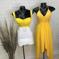 Cropped Bengaline Amarelo