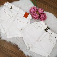 Shorts Jeans Pilily Cinto Branco