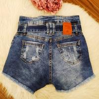 Shorts Jeans Pilily Com Amarra Mesclado