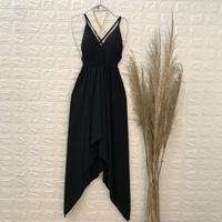 Vestido Com Pontas Preto