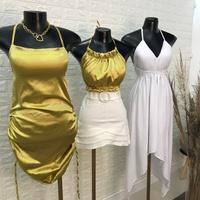 Vestido Cetim Dourado